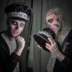 Rick Genest Behind The Scenes Shot
